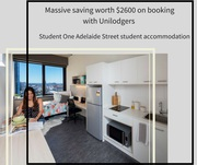 Save $2600 on student Studio Flat at Student One Adelaide Street